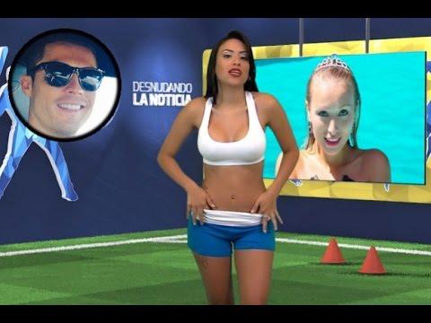 Una presentadora se desnuda hablando de Cristiano Ronaldo Yuvi Pallarés hizo su 'striptease'
