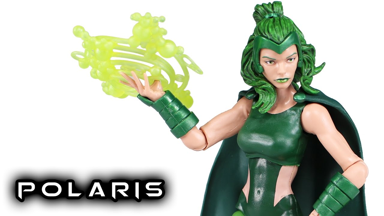 Marvel X-Men Legends Series Marvel/'s Polaris Build A Figure Marvel/'s Warlock