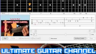 Download [Guitar Solo Tab] Lady In Red (Chris De Burgh) MP3 song and Music Video