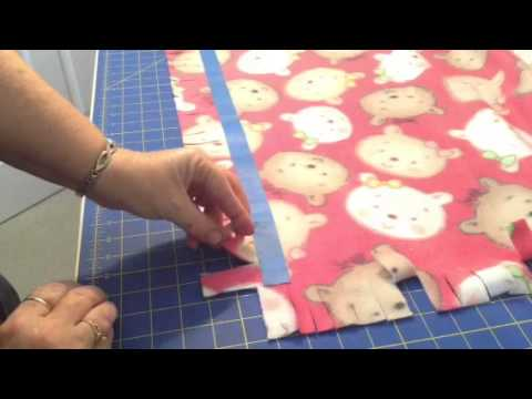 No Sew Fleece Blanket With Braided Edge Youtube