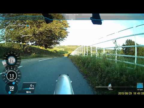 Cycling over LittleDale, Roeburndale road, Gressingham and Carnforth