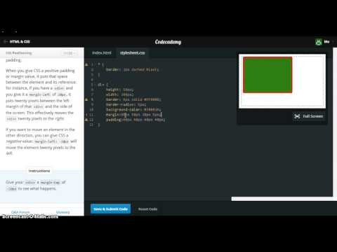 CSS Positioning Codecademy