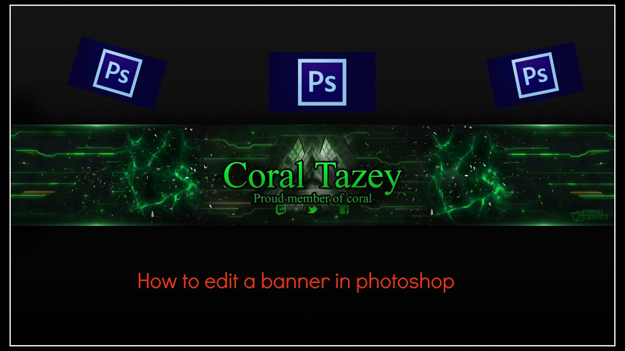 How To Edit A Banner In Photoshop!