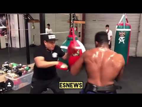 Best Cuban fighter in the world Frank Sanchez working with Eddy Renoso