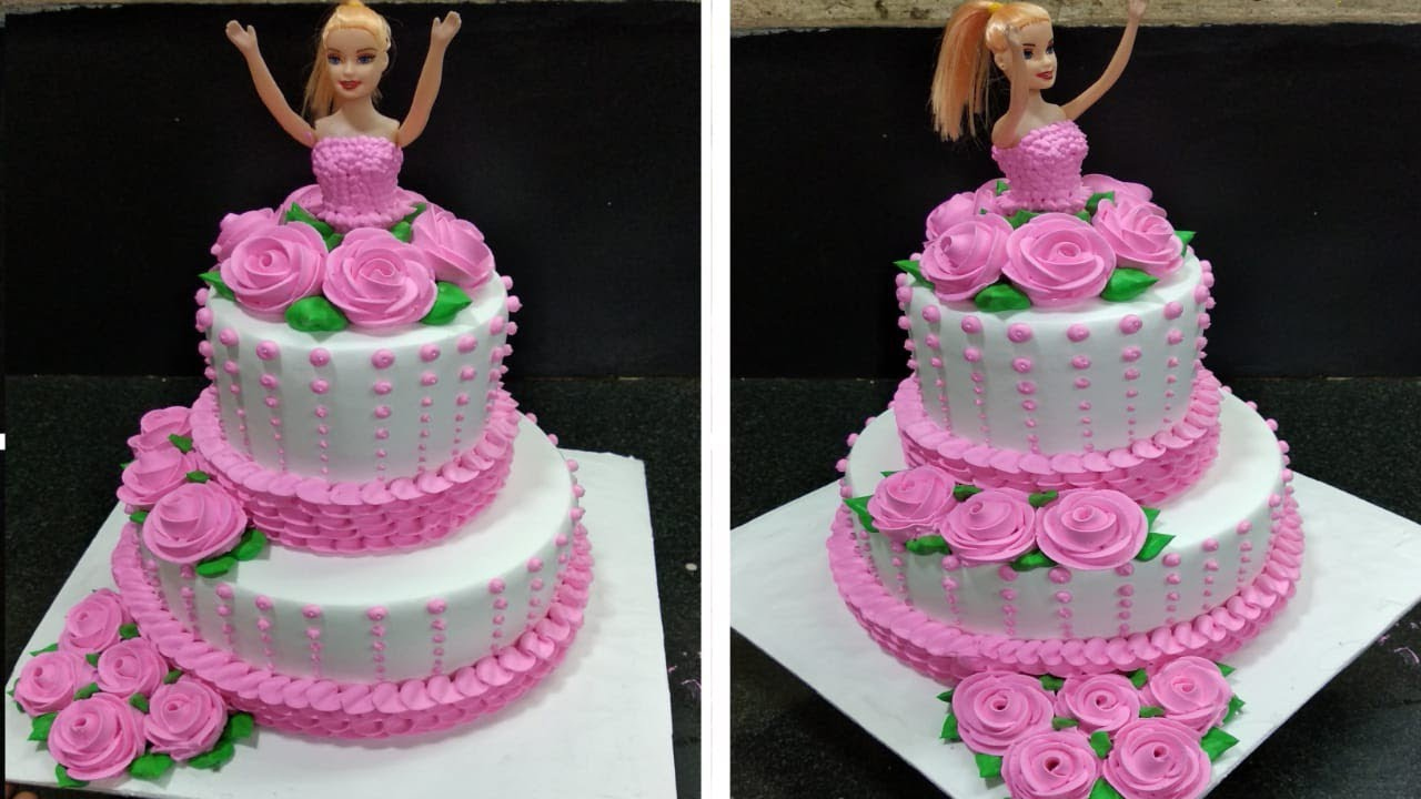 How To Make Two Step Cake Barbie Doll Cake New Cake Design 2020 Youtube