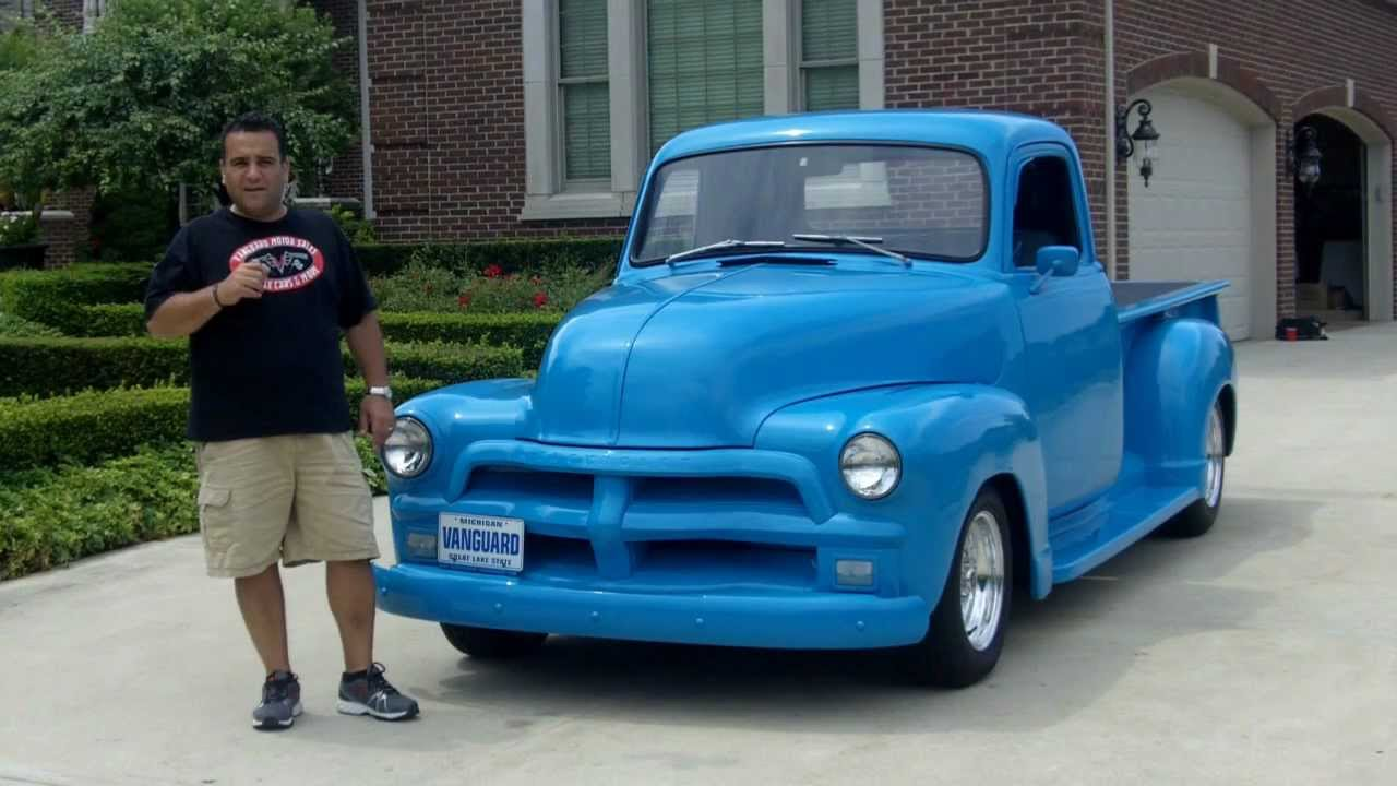 1954 Chevy Pickup Street Rod Classic Muscle Car For Sale In Mi 3100 Pick Up Truck Vanguard Motor Sales Youtube