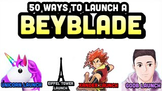 50 ways to LAUNCH a BEYBLADE!!! Epic Video With 20 Different Funny and Unique Launches!!! screenshot 5