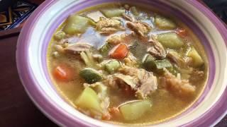 la mejor receta de caldo de pollo con verduras