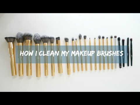 how i clean my makeup brushes