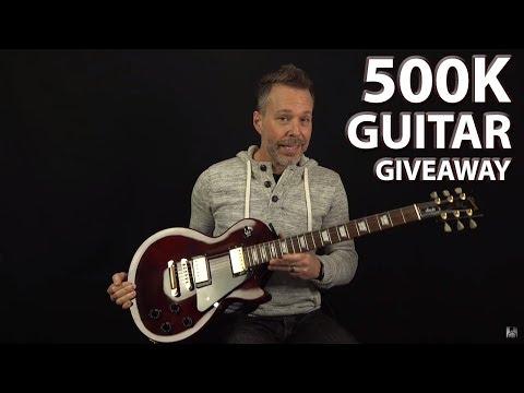 500K Guitar Giveaway! THANK YOU!