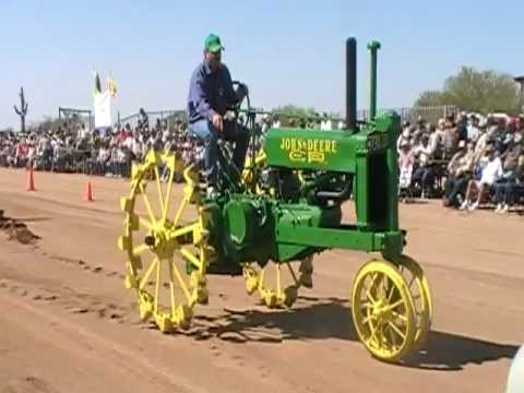 John Deere GP On Steel Wheels Pulling The Sled At Apache Junction, Arizona 3-10-12