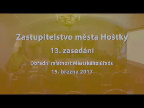 Zastupitelstvo města Hoštky - 13. zasedání ze dne 15. 3. 2017