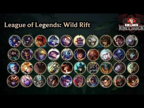 League Of Legends Wild Rift All Champions And Skin