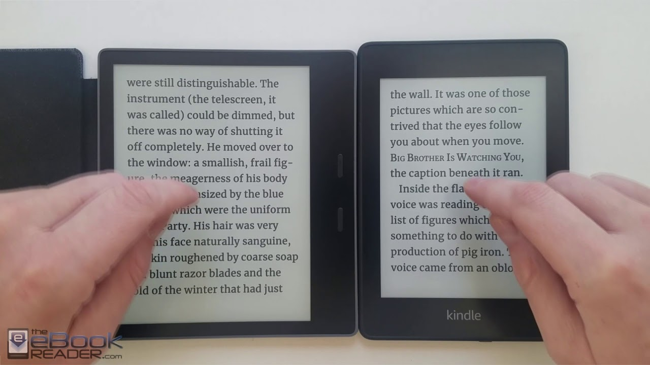 6824abfa6dd7de Kindle Paperwhite 4 vs Kindle Oasis 2 Comparison Review - YouTube