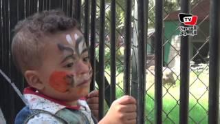 توافد المواطنون على «حديقة الحيوان» في ثالث أيام العيد