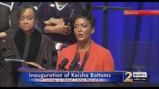 Atlanta Mayor Keisha Lance Bottoms Speaks on HBCU's at Inaguration