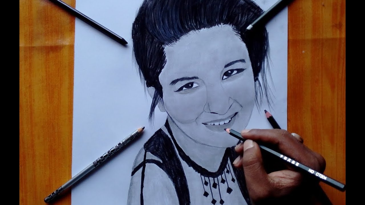 Avneet kaur pencil drawing sony sab actor aladdin