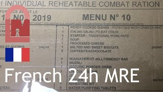 (348) French Army Combat Rations Menu 10 Review