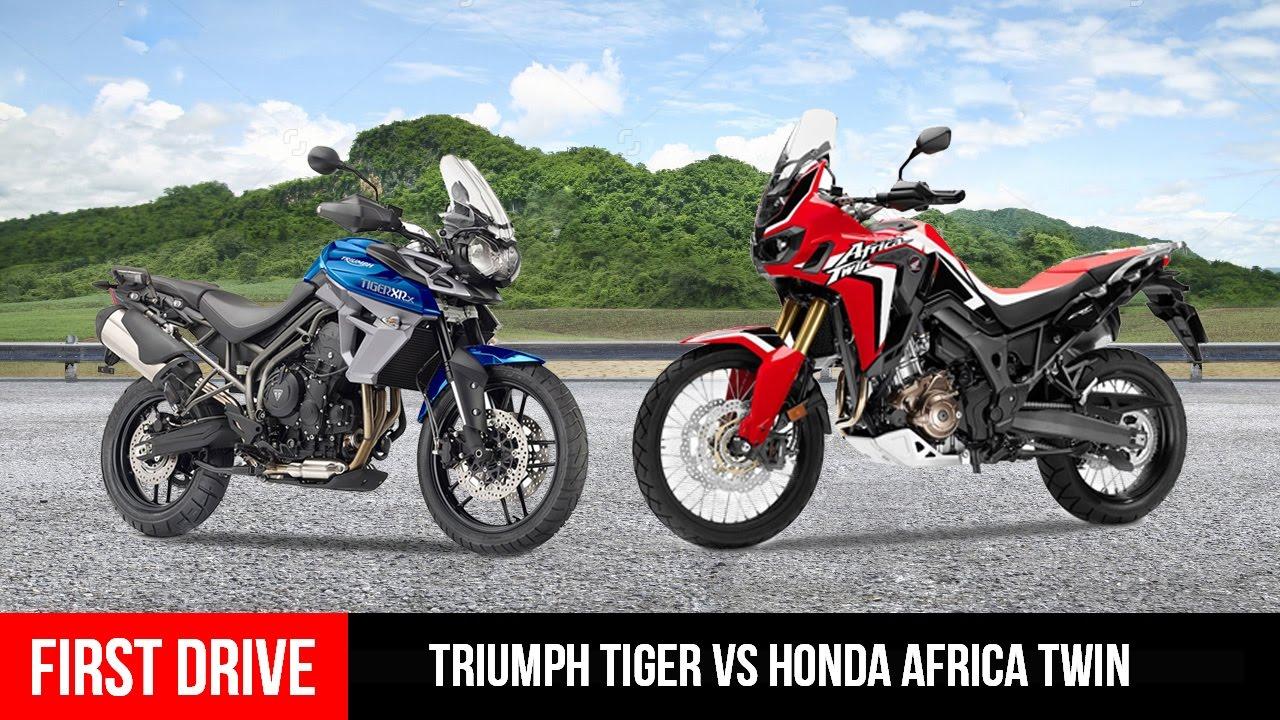 adventure bike triumph tiger xrx vs honda africa twin. Black Bedroom Furniture Sets. Home Design Ideas