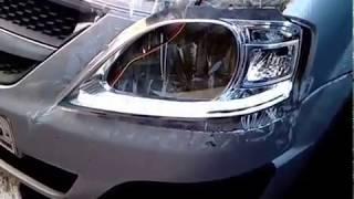 Лада Ларгус установка бегущего повторителя поворота или бегущие поворотники в Лада Ларгус Кросс