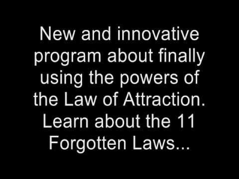 New and innovative program about finally using the powers of the Law of Attraction