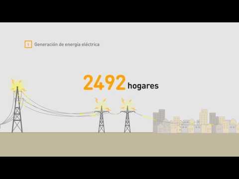 Así se genera energía con el biogás