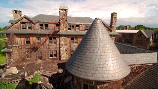 Abandoned Bennette School for Girls in Millbrook, NY - Aerial …