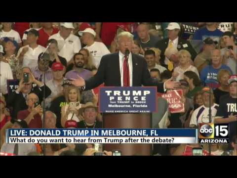 FULL SPEECH: Donald Trump reacts to difficult debate at rally in Melbourne, FL