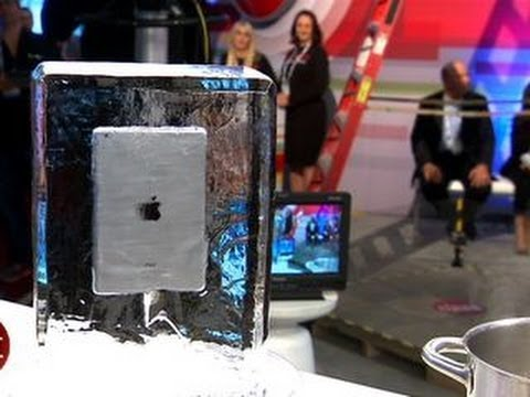 Frozen iPad Mini, boiled Samsung Active, another CES live torture test!