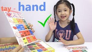 Vui Học Tiếng Anh Cùng Trâm Anh- Bé Anh Học Từ Vựng Tiếng Anh- Bảng Scrabble phần 2