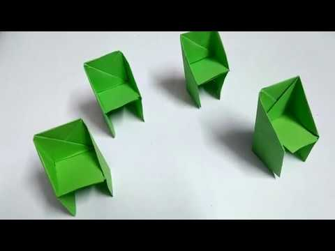How To Make Chairs With Paper
