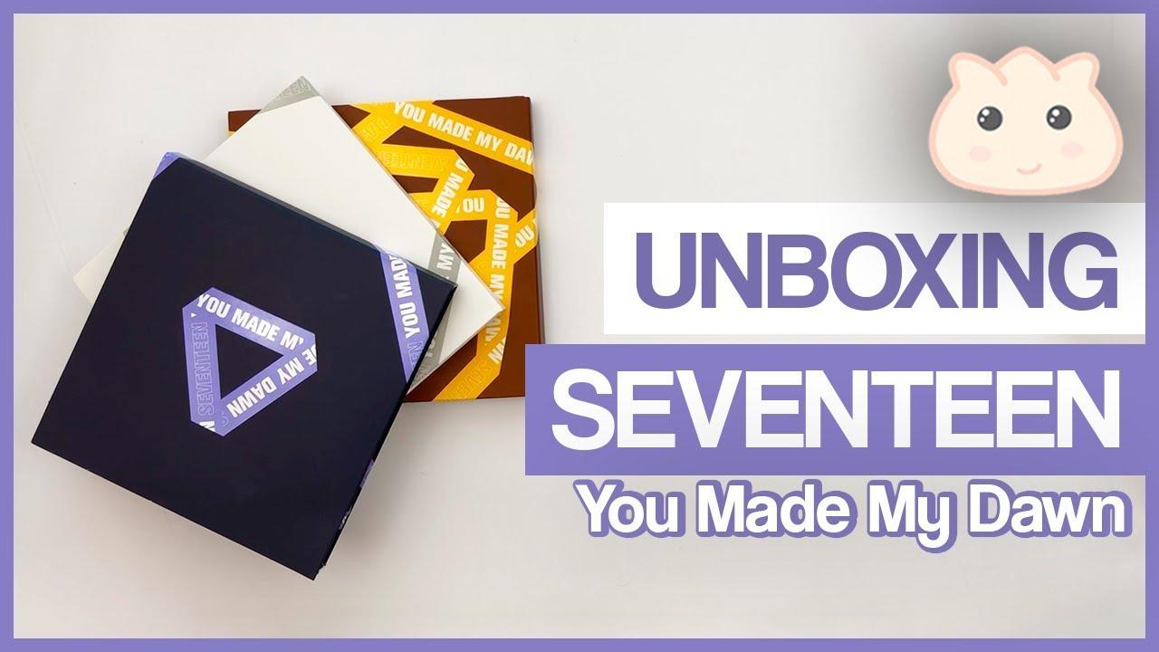 Unboxing SEVENTEEN - 6th Mini Album [You Made My Dawn] 3 Versions 세븐틴 언박싱  セブンティーン [Mandu Apparel]