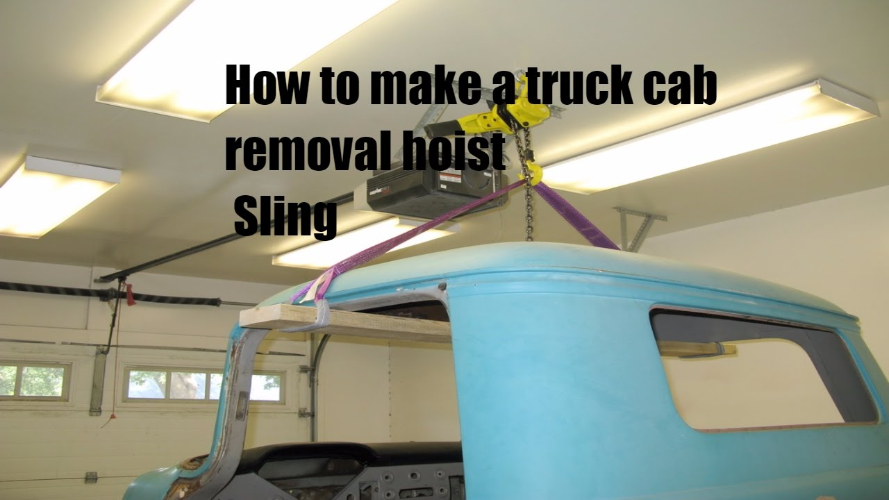 Easy Truck cab hoist sling chassis swap tool part 2 - Tool box