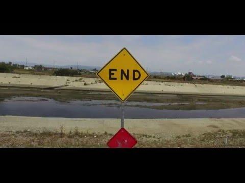 Ballona Creek (HD)--Ballona Creek/Ocean/ Drone Footage/ Marina Del Rey, CA