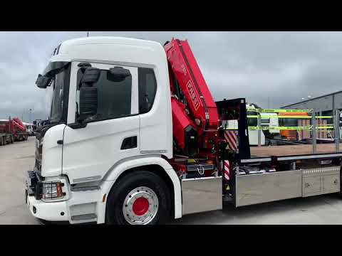 NEW Scania  P360 4x2 FASSI F315.A.2.24 Flat Spec Body