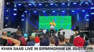 Khan saab LIVE Birmingham uk 2019   new live show khan saab   G khan