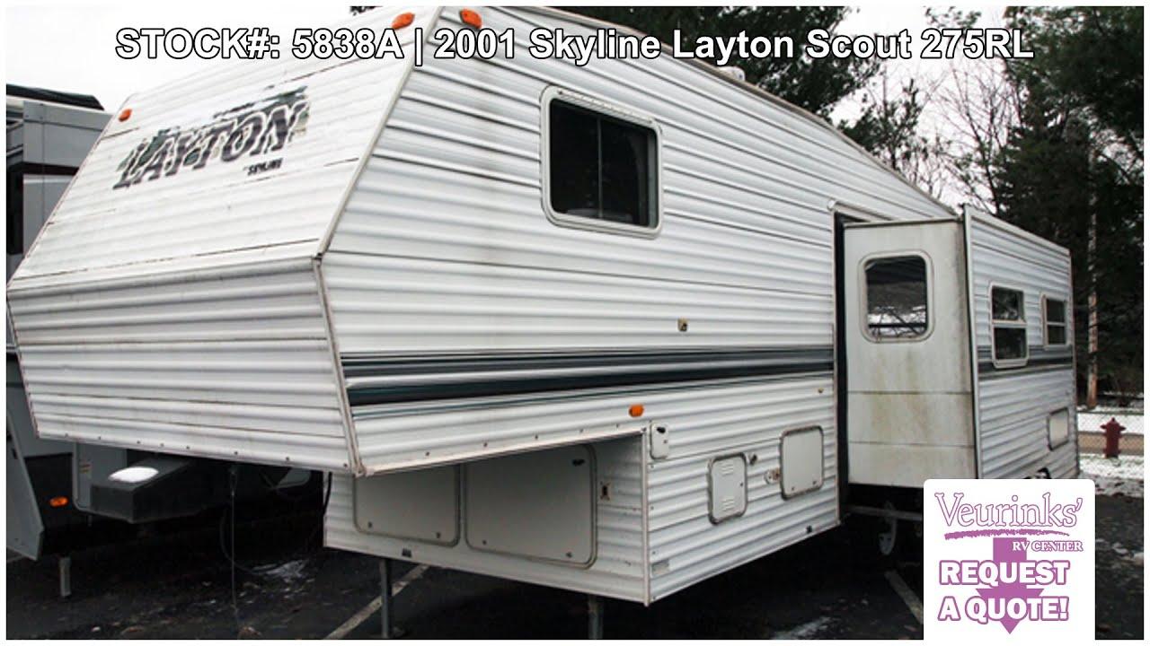 Skyline Layton Scout 275RLS Used Rear Living 5th Wheel 2001   Grand ...
