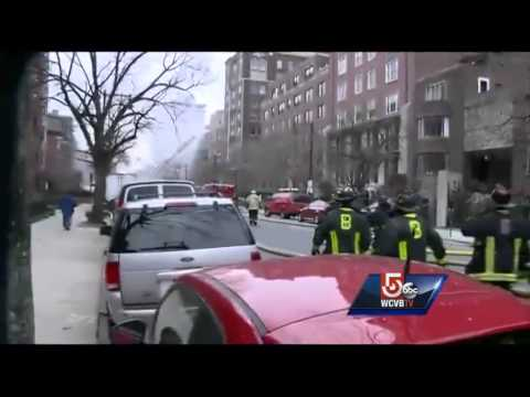 Injured firefighters pulled from burning Back Bay brownstone