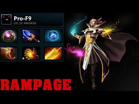 Pro-F9 Invoker Rampage Radiance item [all kills]