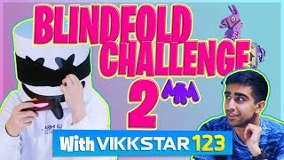 FORTNITE BLINDFOLD CHALLENGE PT. 2 w/ VIKKSTAR123 | Gaming with Marshmello