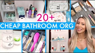 20+ CHEAP BATHROOM ORGANIZATION & DECOR IDEAS!