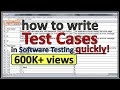 How to write TEST CASES in manual testing with example | login page test case
