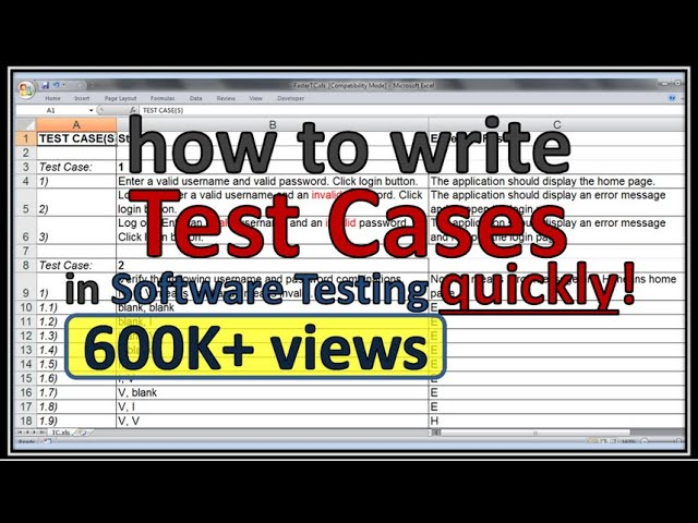 How to write effective test cases quickly - YouTube