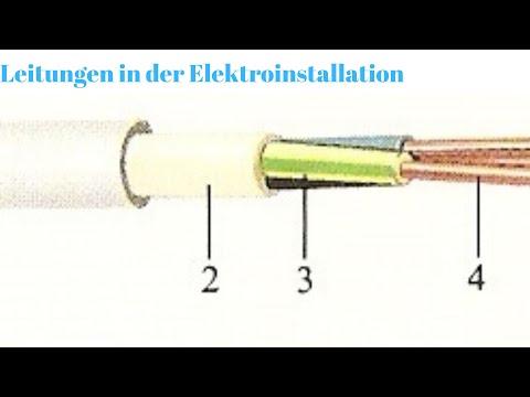 Leitungen in der Elektroinstallation Teil 1, kabelen an der elektrescher Installatioun