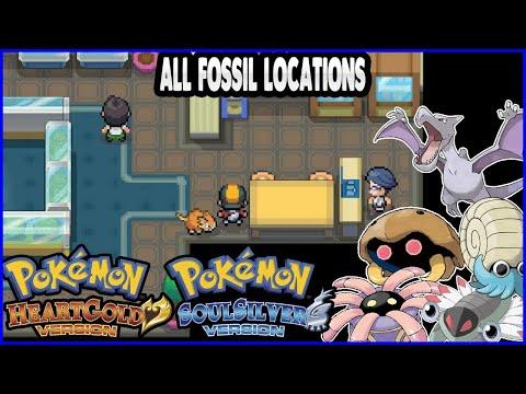 Pokemon HeartGold And SoulSilver - All Fossil Locations