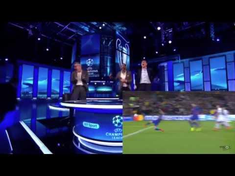 FC Barcelona - PSG 6 - 1 Steven Gerrard Rio Ferdinand studio reaction