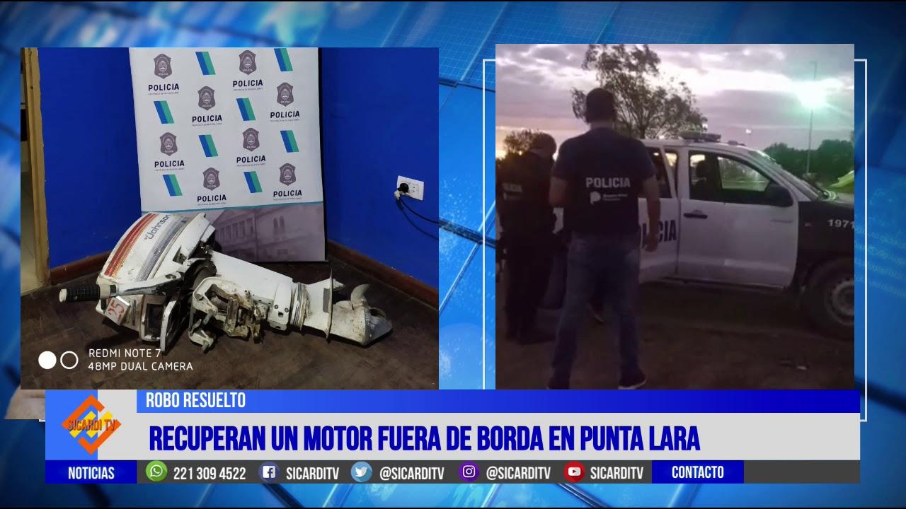 Policía de Arana recuperan un motor fuera de borda