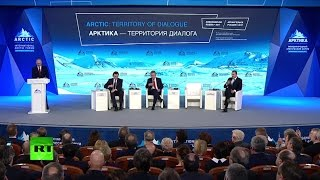 LIVE: Putin talks at Intl Artic Forum in Russia thumbnail