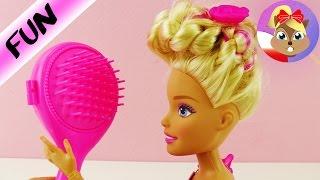 XXL BARBIE u Fryzjera | nowe super ułożone fryzury dla Barbie | Zaplatam włosy Barbie