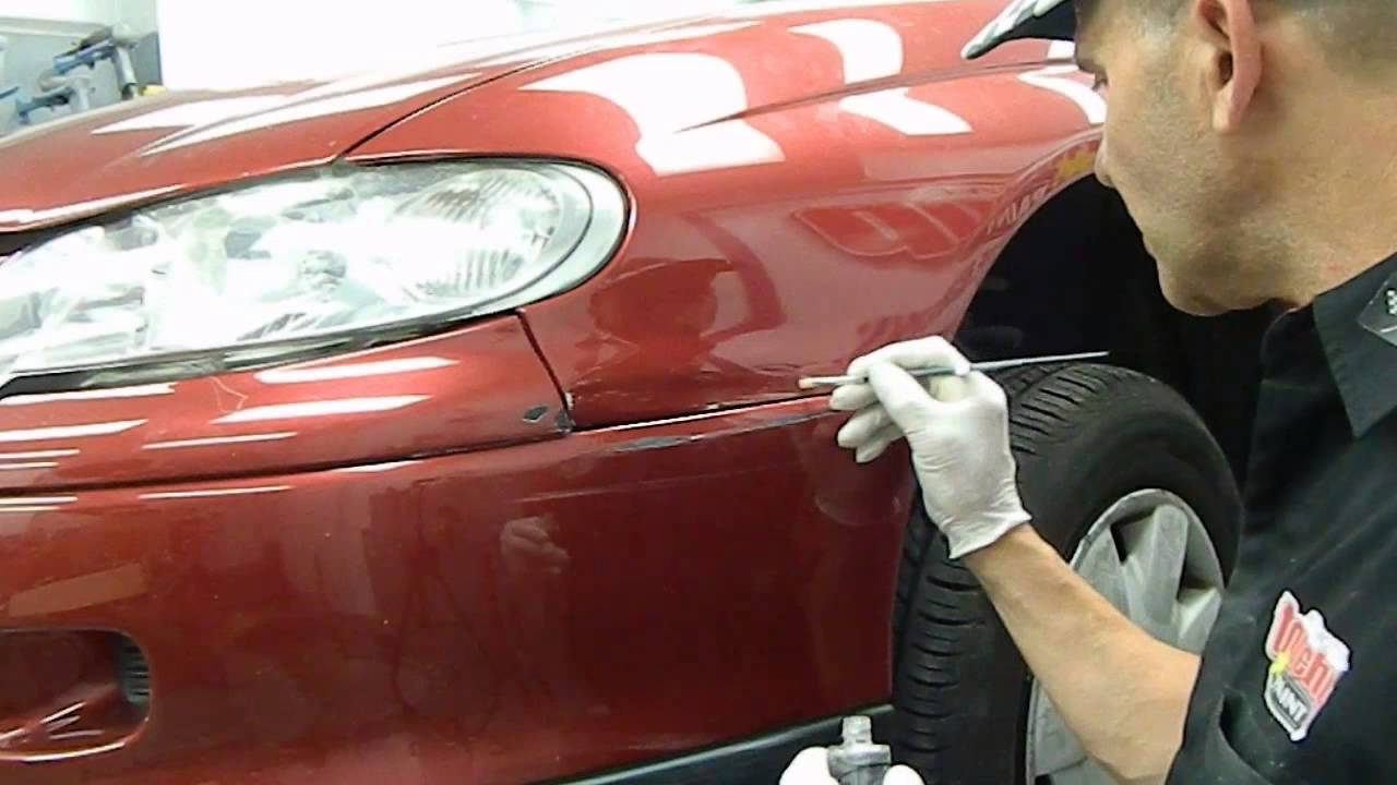 How To Remove Paint From A Car Dent